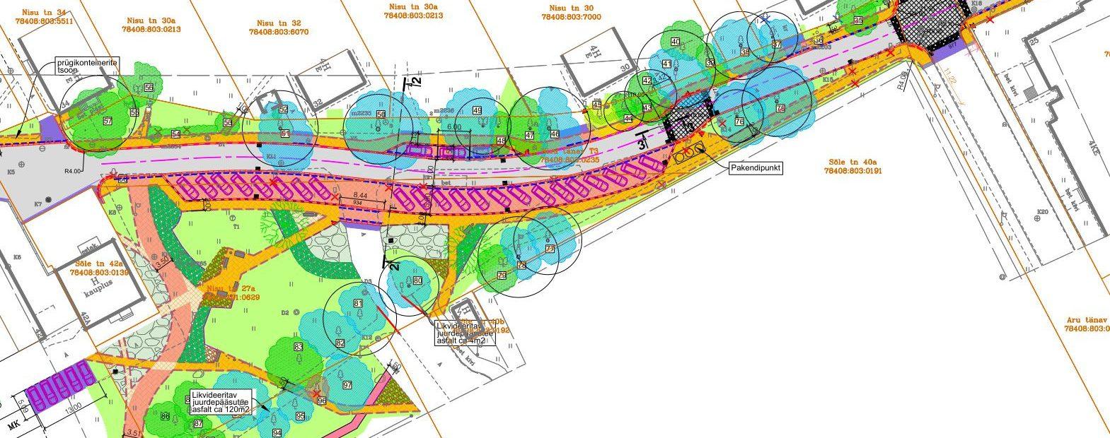 KLM Projekt OÜ poolt projekteeritud Nisu tänav Tallinnas on välja ehitatud